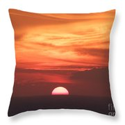 Waikiki Sunset No 3 Throw Pillow