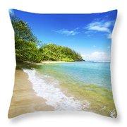Waikoko Beach Shore Throw Pillow
