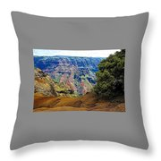 Waimea Canyon - Kauai Throw Pillow