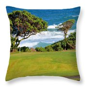 Wailua Golf Course - Hole 17 - 2 Throw Pillow