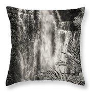 Wailua Waterfall 3 Throw Pillow