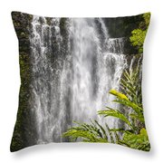 Wailua Waterfall Throw Pillow