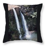 Wailua Waterfall  Throw Pillow