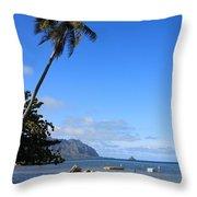 Waimanalo Beach  Throw Pillow