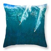Waimea Bay Giant Throw Pillow