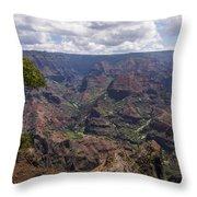 Waimea Canyon 5 - Kauai Hawaii Throw Pillow