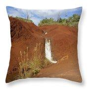 Waimea Waterfall Throw Pillow