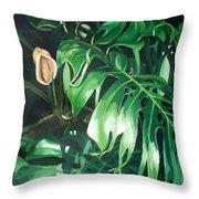 Waipeo Green Throw Pillow