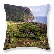 Waipi'o Valley Throw Pillow