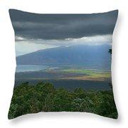 Waipoli Kula View Of West Maui From Haleakala Throw Pillow