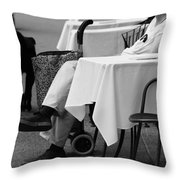 Wait For Buddy Throw Pillow