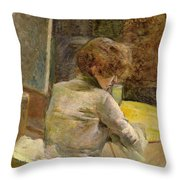 Waiting At Grenelle Throw Pillow