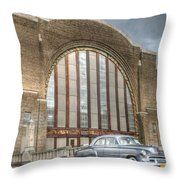 Waiting At The Station Throw Pillow