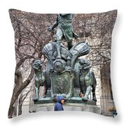 Waiting By Galusha Throw Pillow