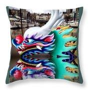 Waiting Dragon Reflect  Throw Pillow