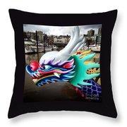 Waiting Dragon Throw Pillow