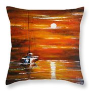 Waiting... Throw Pillow by Elena  Constantinescu