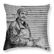 Waiting For A Client Throw Pillow