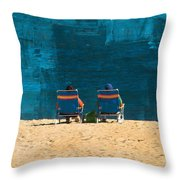 Waiting For A Dolphin Throw Pillow