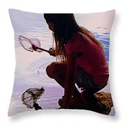 Waiting For A Fishy Throw Pillow