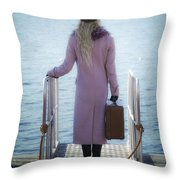 Waiting For A Ship Throw Pillow