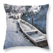 Waiting For A Spring Throw Pillow