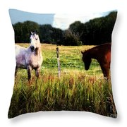 Waiting For Apples Throw Pillow