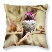 Waiting For Blooms Throw Pillow