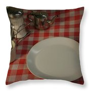 Waiting For Breakfast Throw Pillow