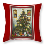 Waiting For Christmas Morning Throw Pillow