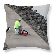 Waiting For Crumbs Throw Pillow