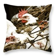 Waiting For End Throw Pillow
