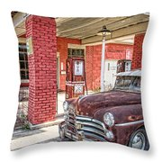 Waiting For Gas Throw Pillow