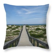 Waiting For Happy Feet Throw Pillow