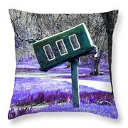 Waiting For Mail Throw Pillow