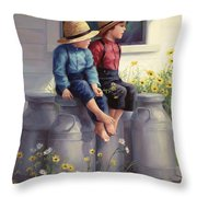 Waiting For Mama Throw Pillow