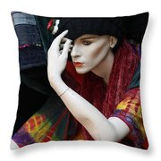 Waiting For Mr.right Throw Pillow