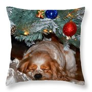 Waiting For Santa Throw Pillow
