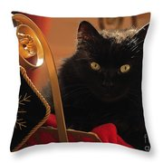 Waiting For Santa To Arrive Throw Pillow