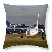 Waiting For Take-off  Throw Pillow
