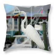 Waiting For The Boat Throw Pillow