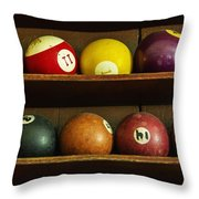 Waiting For The Game Throw Pillow