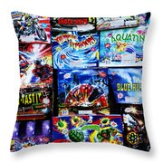 Waiting For The Next Explosion Throw Pillow