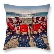 Waiting For The Party Throw Pillow by Peter Tellone