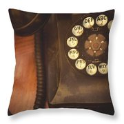 Waiting For The Phone To Ring Throw Pillow