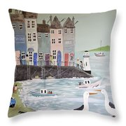 Waiting For The Shops To Open Throw Pillow