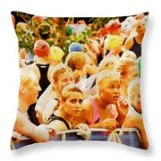 Waiting For The Swim Throw Pillow