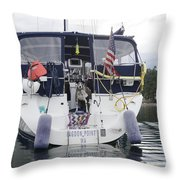 Waiting For The Water Taxi Throw Pillow