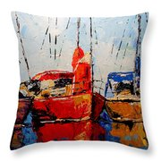 Waiting For The Weekend Throw Pillow by Vickie Warner