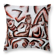 Waiting For Tulips  Throw Pillow